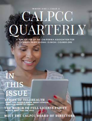 Photo: cover of CALPCCQuarterly winter issue